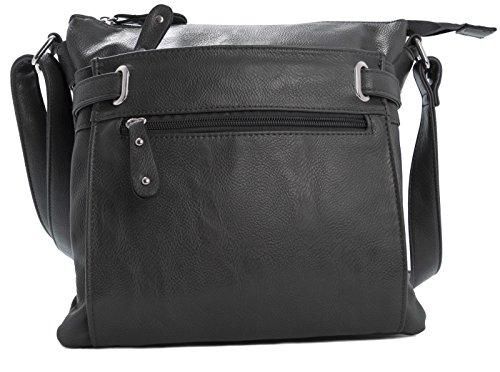Cross Design Bags Messenger Womens Medium Grey Pocket Multi Dark Body special 5AWAqX