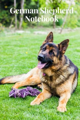 German Shepherd Notebook: College Ruled, Lined, Blank Notebook, Journal, 120 Pages, 6 by 9 Inches