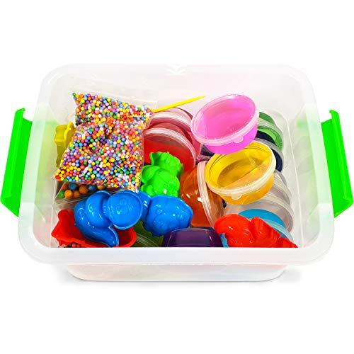 5e7668724 Amazon.com: Big Crystal DIY Slime Kit for Kids - 15 Colors Super Slime  Supplies Pack - Ultimate Slime Making Kit for Girls Boys - Make Your Own  Slime Clear ...