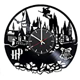 Cheap Hogwarts Castle Vinyl Record Wall Clock – Get unique bedroom, kitchen wall decor – Gift ideas for his and her – Harry Potter Unique Art Design