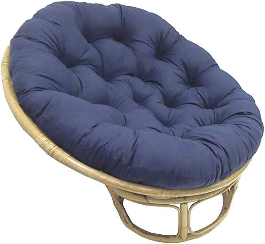 Papasan Coton Coussin De Chaise Swing Doeuf Soulant Coussin De Chaise /Épais Confortable Coussin De Remplacement Moelleux sans Chaise-Rouge 105x105cm 41x41inch