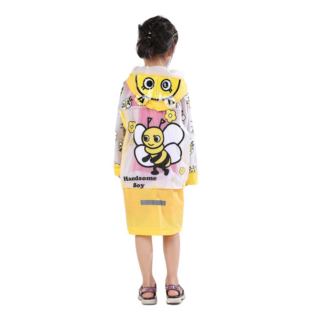 Neaer Kids Rain Coat子供レインコートレインウェア/ Rainsuit、キッズ防水動物レインコート M(100-110cm) ハチ B0759CJ4YL