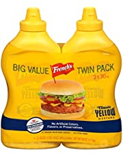French's Squeeze Yellow Mustard, 2 Count, 60 Oz