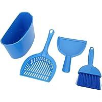 hongxinq Kit de Limpieza de Inodoro para Mascotas Pala de Arena para Gatos de Plástico de 4 Piezas