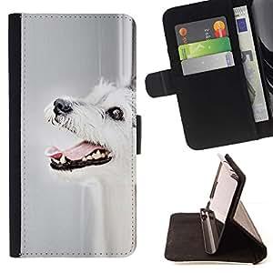 Momo Phone Case / Flip Funda de Cuero Case Cover - Parson Russell Terrier Perro Perro Mutt; - Sony Xperia M5