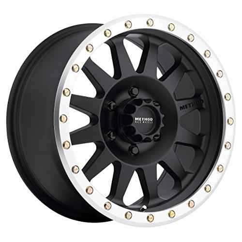 Method Race Wheels Double Standard Matte Black Wheel with Machined Lip (16x8/8x170mm) 0 mm offset