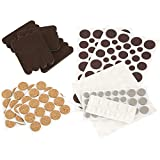 cork flooring durability SoftTouch 4924995N Craft Value Pack-236 PCs, Dots-Cork Pads-Felt Strips-Bumpers, Brown