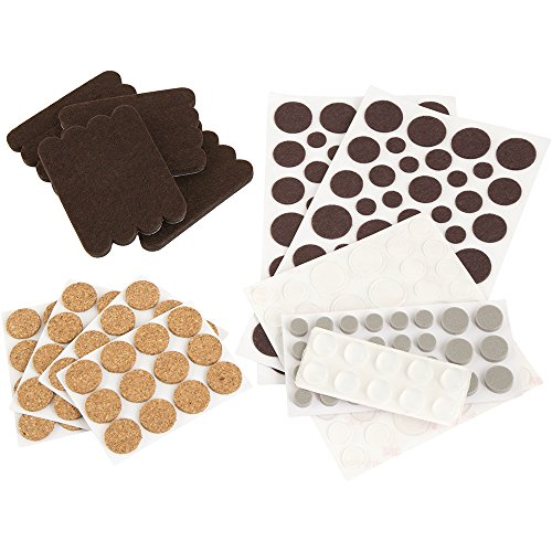 Craft Value Pack - 236 PCs, Felt Dots - Cork Pads - Felt strips - - Felt Waxman