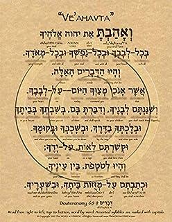 Amazon com: The Shema Prayer in Hebrew Poster ECO (8 5