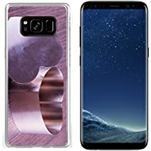 Luxlady Samsung Galaxy S8 Clear case Soft TPU Rubber Silicone IMAGE ID 26037820 Iron heart for cooking over wooden background