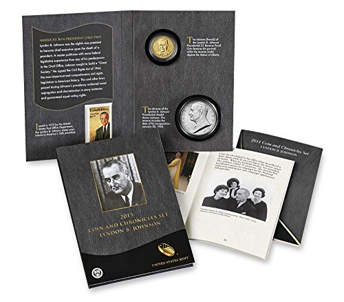 - 2015 P Presidential Coin & Chronicles Set - Lyndon B. Johnson (AX4) Reverse Proof