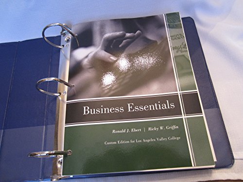 Business Essentials w/ MyBizLab Code- Custom Edition for Los Angeles Valley College