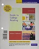 Guide to College Reading, Books a la Carte Plus MyReadingLab 9780205074259