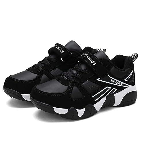 a68723f45 Calzado Deportivo para niños Moda al Aire Libre Piel Plana Deportes al Aire  Libre Zapatillas Escolares  Amazon.es  Zapatos y complementos