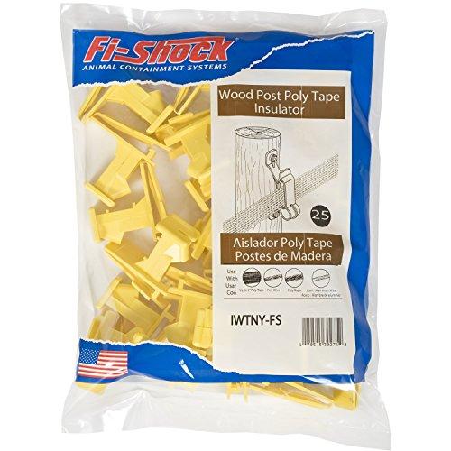 Fi-Shock IWTNY-FS Poly Tape Wood Post Insulator, Yellow