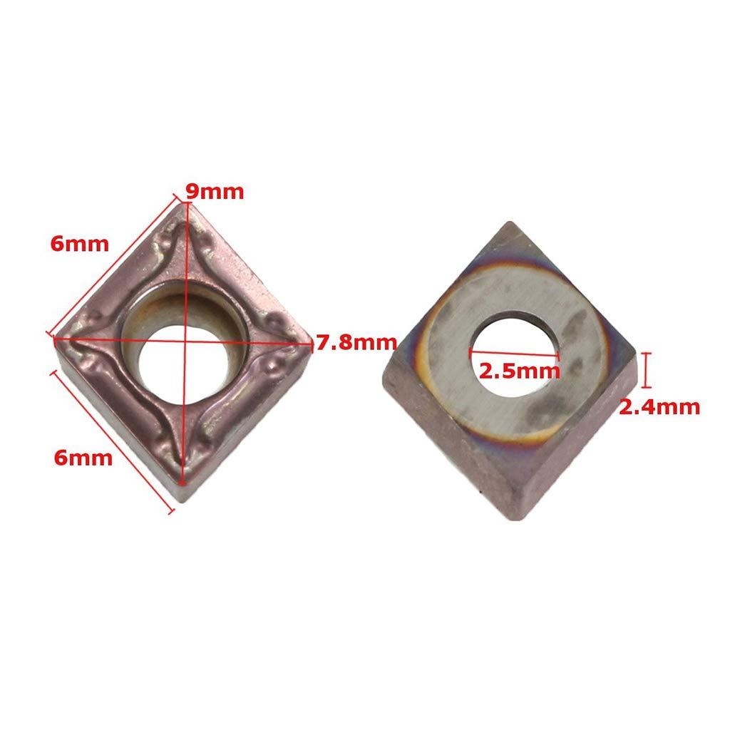 SDENSHI 10x Lames Inserts Rotatifs CNC en Carbure TCMT110204 VP15TF Outil Tournage Fraisage de Metal Filtage pour Tour Fraiseuse