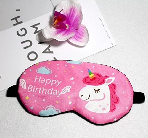 Fashion Unicorn 5Pcs Sleep Mask Cover Lightweight Blindfold Soft Eye Mask for Men Women Kids by Yosbabe (Image #1)