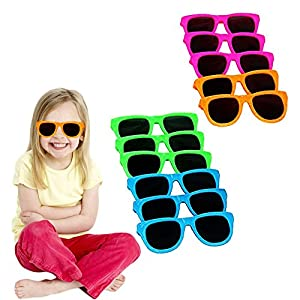 Toy Cubby Assorted Neon Colored Party Sunglasses - 12 Pieces