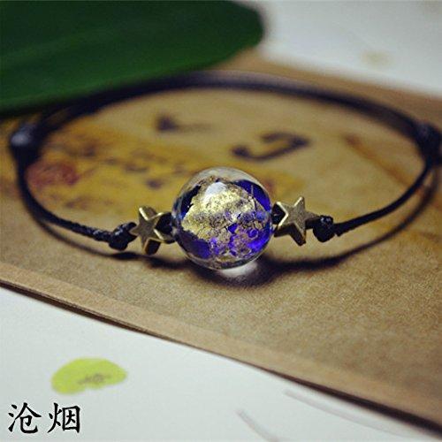 Foil Sapphire Gold - [] Cang glass fish fresh and fantastic sky gold and silver foil sapphire glass pieces foils stars bracelet female girlfriends