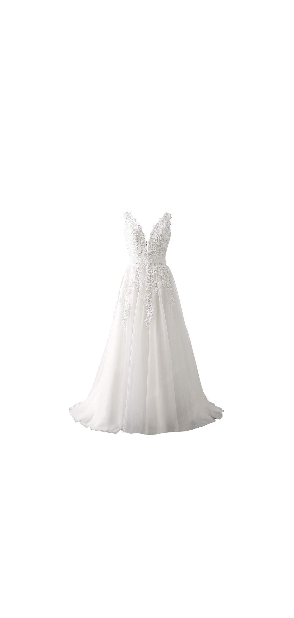 Women's Wedding Dress For Bride Lace Applique Dress