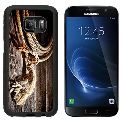 Premium West Sd Card (MSD Premium Samsung Galaxy S7 Aluminum Backplate Bumper Snap Case American West rodeo authentic cowboy lariat lasso honda noose loop rawhide IMAGE 25849586)