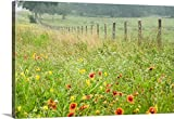 greatBIGcanvas Gallery-Wrapped Canvas entitled Flowers and Fence by Karin Connolly 30''x20''