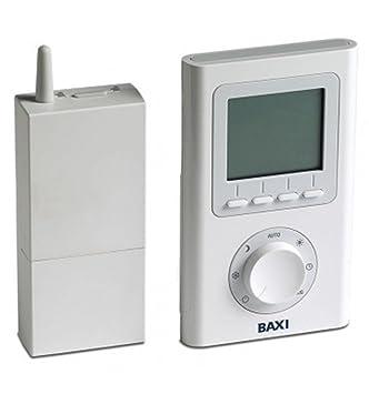Baxi inalámbrico 7 días termostato programable 720030501: Amazon ...