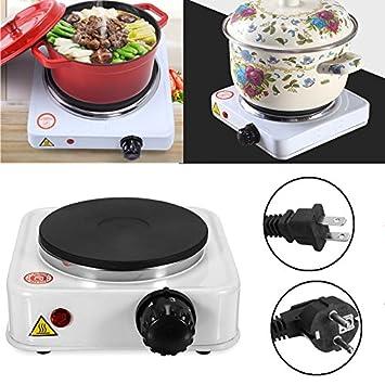 LaDicha 500W Mini Estufa Eléctrica Placa Caliente Quemador Portátil Calentador De Café De Viaje Cocina Aparatos - 220V: Amazon.es: Hogar