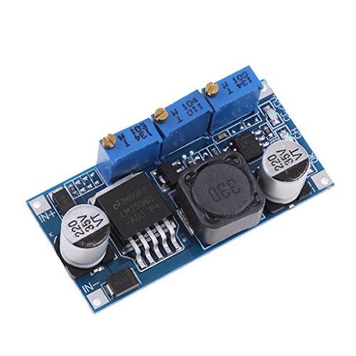 (Homyl Stable DC-DC LM2596 Step-down Adjustable Power Supply CC-CV Module Regulator with LED Light DIY Accessories )