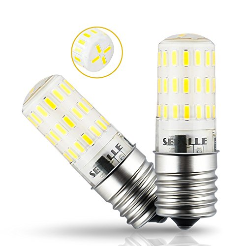 Dimmable E17 LED Bulb Seealle 4W E17 Microwave Oven Light Daylight White 5000K 40W Halogen Equivalent E17 Intermediate Base AC110-130V(Pack of 2)