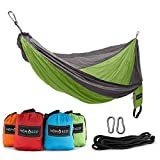 Key Features DURABLE - Hammocks and stuff sacks are triple stitched, extremely durable, and sturdy. Max Weight - 400 lbs. EASY TO CLEAN - Hammocks are able to be machine washed on cold. They are made from a quick drying material that is breathable an...