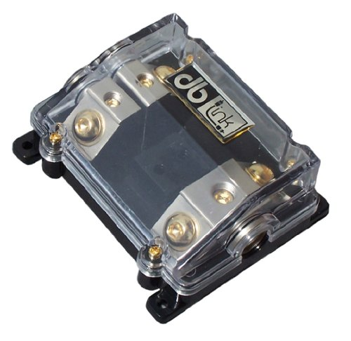 Phone Distribution Block - DB Link NANLFB02 0 AWG In/ (2) 4 AWG Out-2 Position ANL Power Distribution Fuse Block with Clear Heat Resistant Plastic Housing