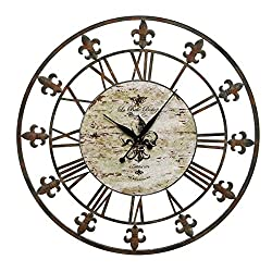 Deco 79 13813 Metal Clock 36 D, Antique Brown