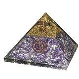 Crocon Amethyst Reiki Healing Orgone Pyramid Crystal Point Chakra Balancing Energy Generator Size :2.5-3 Inch