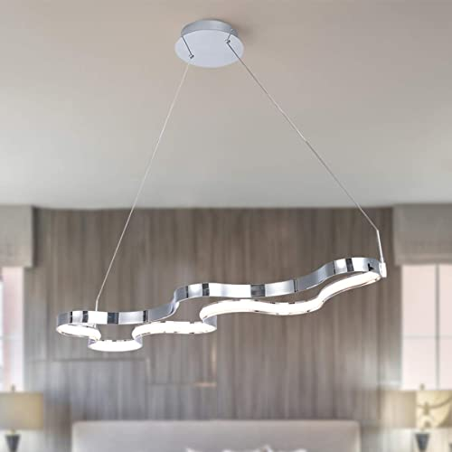 Modern Chandelier Not Dimmable LED Pendant Light Adjustable 1 Ring Creative Pendant Chandelier Fixture