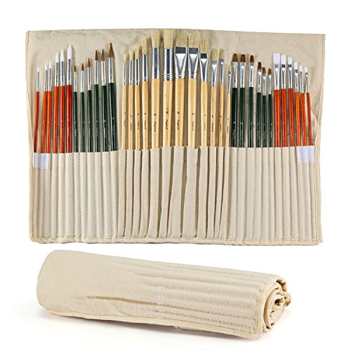 The 12 Assorted Size Artist Painting Brushes Set - 6