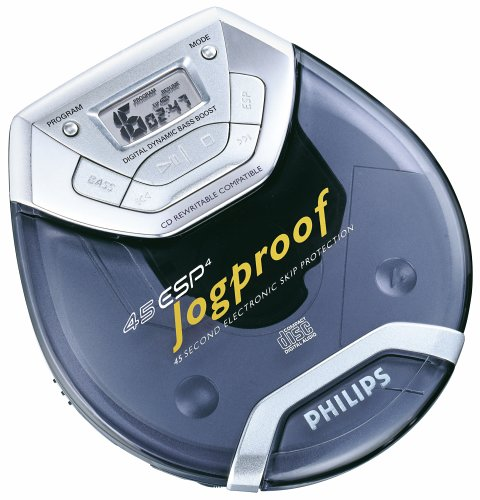 Philips AX5011 Portable Jogproof CD Player with 45-Second Anti-Skip (Blue) by Philips