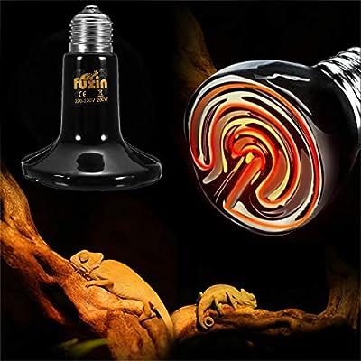 VietRattan LED Bulbs & Tubes - E27 Socket Infrared Ceramic Heat Emitter Reptile Pet Brooder Lamp Bulb Holder EU/US/AU Plug Alloy Black 110V/220V 1 PCs