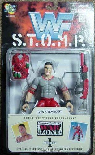 Series 1 Ken Shamrock Jakks WWF S.t.o.m.p