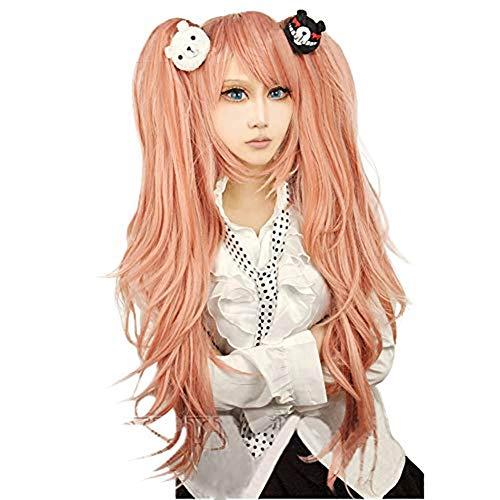 Danganronpa Junko Enoshima Monokuma Monomi Hair Clip Gloves Party Hair Cos Cosplay Wig (Wigs-A)