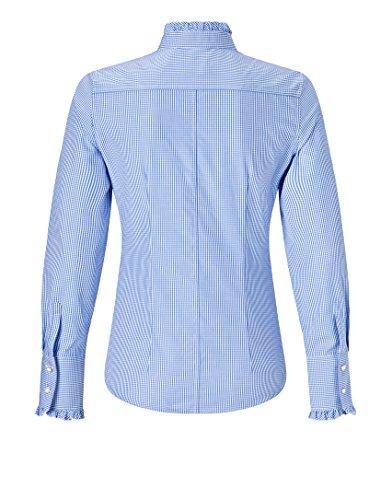 Boretti Classique Col Manches 3 Chemise Longues Chemisier bleu Femme Vincenzo avZwda