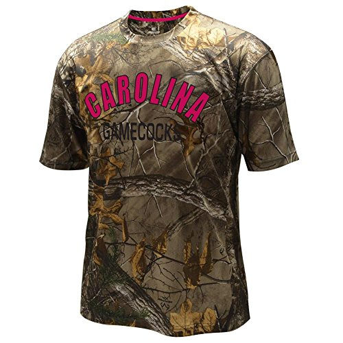 South Carolina Gamecocks NCAA Realtree Trail Men's Camo Performance S/S T-Shirt