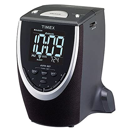 amazon com timex t313b auto set dual alarm clock radio black rh amazon com