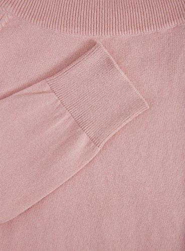 oodji Ultra Mujer Jersey Básico con Cuello Redondo Rosa (4000N)