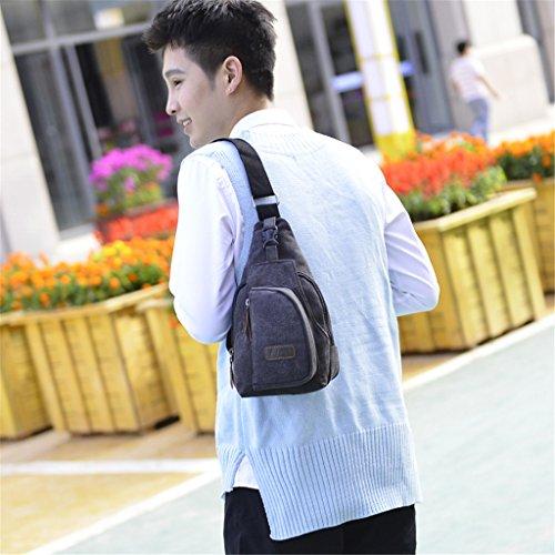 casual de el pequeño alta bolso lona de hombro pecho hombro café para calidad hombro de bolso HUAYUN Bolsas negro bandolera de de wFq66T
