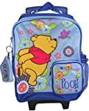 Winnie the Pooh Flowers and Butterflys Small Rolling Backpack (12in)