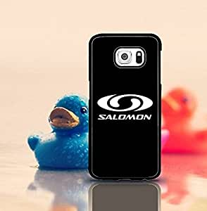 Cute Galaxy S6 Funda Case Salomon Logo Of Famous Brand Creative Design Premium Distinctive Printed HD Pattern With Hard Plastic Material & Anti-Scratch Durable Back Protection Perfect 2 in 1 Cover Compatible With Samsung Galaxy S6