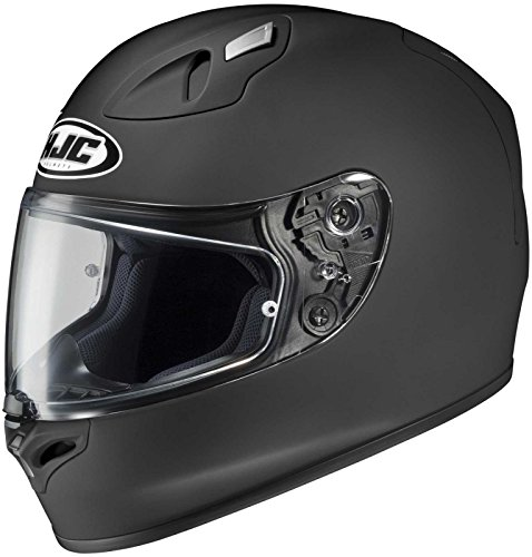 HJC FG-17 Full-Face Motorcycle Helmet (Matte Black, Large)