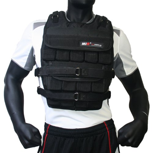 MIR® - 140LBS PRO (LONG STYLE) ADJUSTABLE WEIGHTED VEST by MiR Weighted Vest