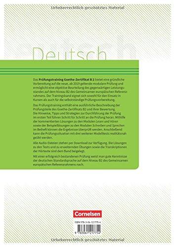 Prufungstraining Daf Goethe Zertifikat B2 2019 Ubungsbuch
